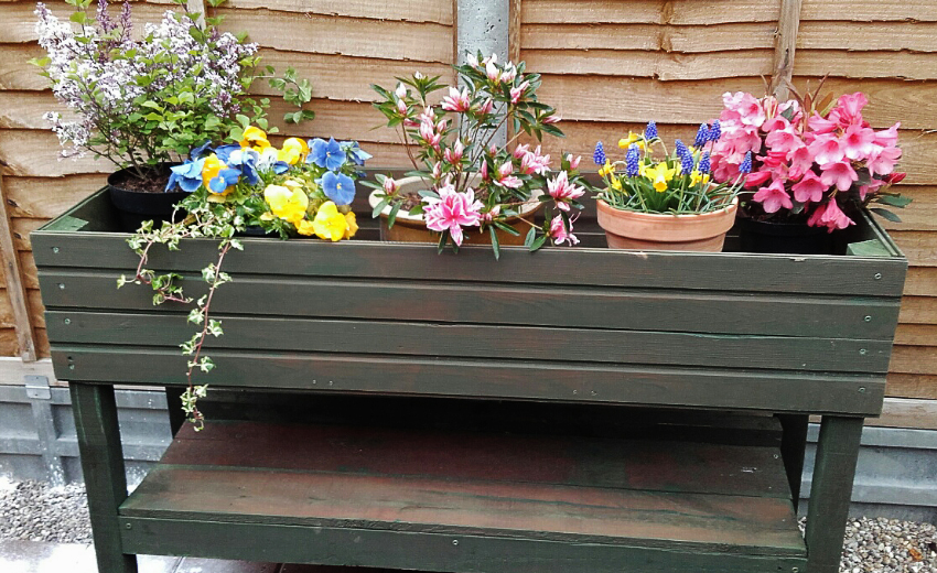 Planter made at Men in Sheds