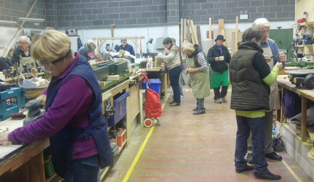 Charnwood Shed, Loughborough. Men and Women in Sheds