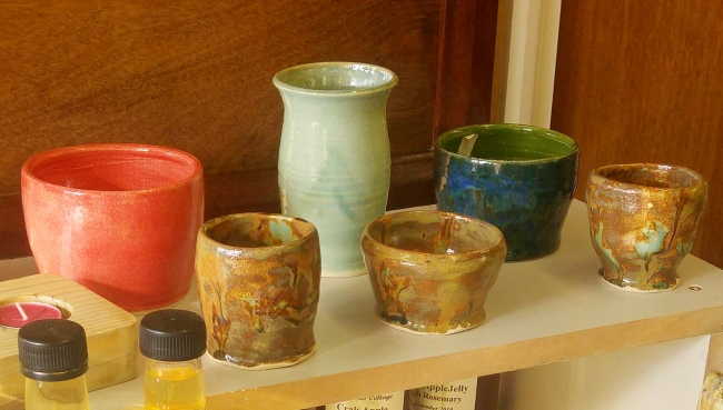Pots and vases made at The Shed