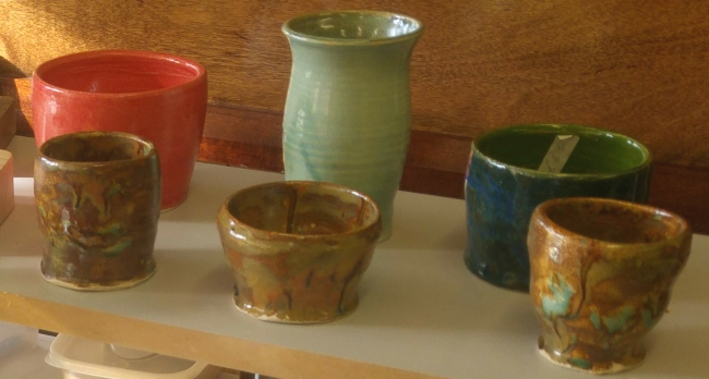 Pots made at The Shed